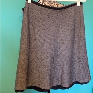 Ann Taylor Dot Patterned Professional Lined Skirt